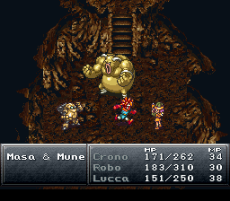 Chrono Trigger boss fight against Masa and Mune