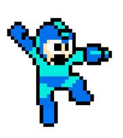 Mega Man jumping
