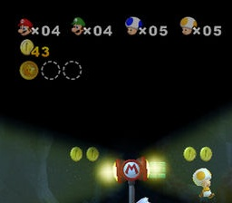 Lives counter in New Super Mario Brothers