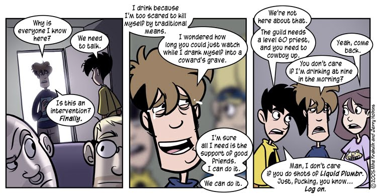 Penny Arcade comic for 2005 08 01: Just When I Get Out