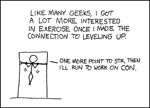 xkcd comic 189: Exercise