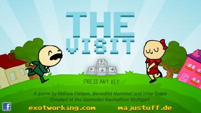 The Visit title screen