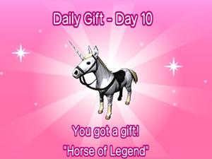 'Horse of Legend' daily reward for Go Vacation
