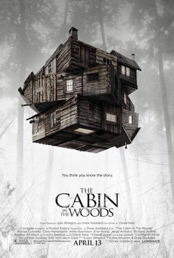Movie poster for 'The Cabin in the Woods'
